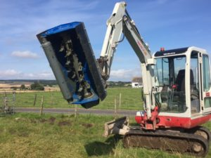 excavator mounted hedge cutter - flail mower head