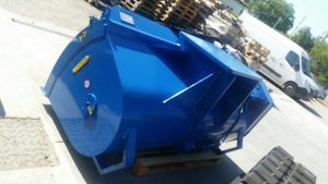 mixing bucket - excavator mounted bracket